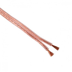 Speaker Cable Fig8 17AWG 105/0.12 Clear Reel 100m