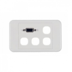 VGA + 4 Gang Wallplate