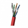 Cat 5e Red Stranded Network Cable 100Mtr Roll