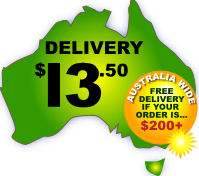 Australia Wide Delivery $13.50 up to 3kg. Free if over $200 or store pickup.